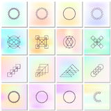 Abstract backgrounds with shapes outlines. Stock Photography