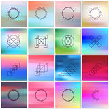 Abstract backgrounds with shapes outlines Stock Photography