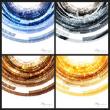 Abstract backgrounds templates. Blue, black, brown and yellow Stock Image