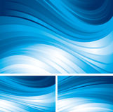 Abstract backgrounds. Tree blue abstract backgrounds. Eps8 CMYK Organized by layers Global colors Gradients used Royalty Free Stock Photo