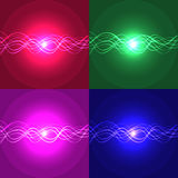 Abstract backgrounds with waves and light. Abstract backgrounds with waves and light . Vector illustrations in different colors Vector Illustration