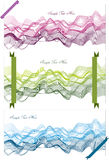 Abstract backgrounds  with waves and ribbons. Colorful abstract illustrations of symmetrical waves and lines isolated on white backgrounds with decorative Stock Image