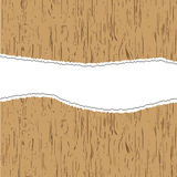 Abstract backgrounds wooden paper torn. Royalty Free Stock Image