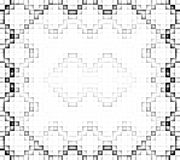 Pixel white and black pattern. Stock Photography