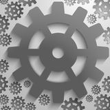 Abstract backgrund design with cog wheel Royalty Free Stock Photos