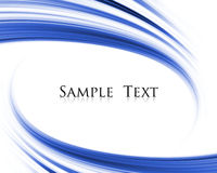 Abstract backround. Blue abstract wave composition with sample text Stock Photo