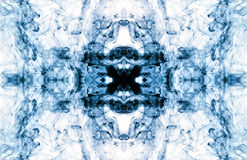 Abstract backround. Abstract colorful backround - blue ink in water Royalty Free Stock Photography
