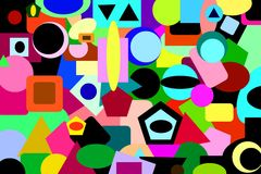 Free Abstract Backrounds: Vibrant Colors & Basic Forms Stock Images - 35045694