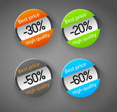 Abstract badges, circles Royalty Free Stock Photos