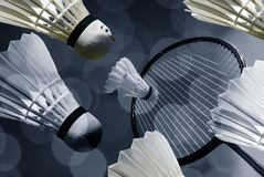 Abstract badminton Stock Photography