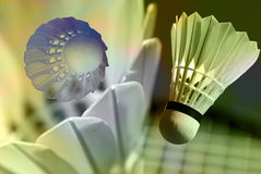 Abstract badminton royalty free stock photos