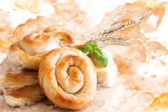 Abstract Bakery background Royalty Free Stock Images