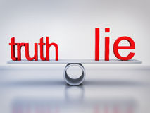 Abstract balance truth and lie Stock Images