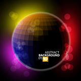 Abstract ball. Vector colored abstraction on black Royalty Free Stock Photo