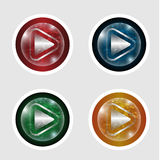 Abstract ball with arrow. Set of four abstract ball with arrow Royalty Free Stock Photography