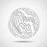 Abstract ball of circuit board. Vector illustration. Eps 10 Royalty Free Stock Photos