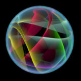 Abstract ball (3D xray multicoloured and blue transparent) Royalty Free Stock Images
