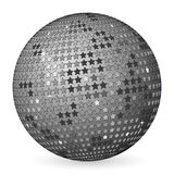 Abstract ball grey with stars Royalty Free Stock Photo