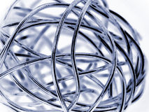 Abstract ball of silver wire Stock Photos