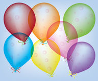 Abstract ballons. Color abstract funny kids balloon Stock Image
