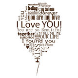 Abstract balloon i love you Stock Image