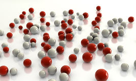 Abstract balls. Nice render of many spheres Stock Photos
