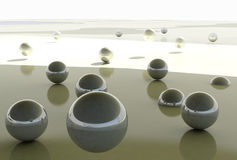 Abstract Balls Background. / Fly Free Stock Image