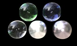 Abstract balls of background, 3d render Royalty Free Stock Photo