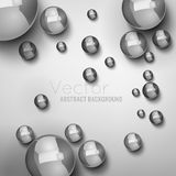 Abstract Balls Background 01 A. Abstract modern light background with futuristic metallic balls on a white background. Vector illustration Royalty Free Stock Photography