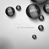 Abstract Balls Background 02 A. Abstract modern light background with futuristic metallic balls on a white background. Vector illustration Stock Images