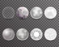 Abstract Balls Burst 3d Curl Polygonal Set Symbol Transparent Background Design  Vector Illustration Royalty Free Stock Images