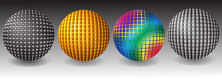 Abstract balls. Abstract , festive balls , gold, silver and rainbow colors Royalty Free Stock Images