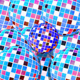 Abstract balls mosaic texture Stock Photography
