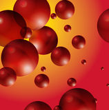 Abstract balls in space Royalty Free Stock Photo