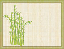 Abstract bamboo. Abstract illustration of old framed paper with bamboo in the corner stock illustration