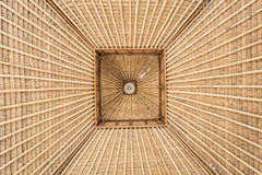 Abstract of bamboo roof structure texture. And background Royalty Free Stock Photos