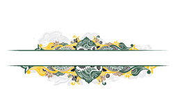 Abstract banner. Abstract floral design banners with space of your text, vector illustration royalty free illustration