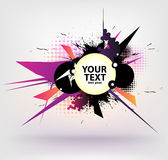 Abstract banner. Modern banner with abstract elements royalty free illustration