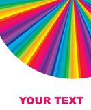 Abstract banner. Colorful burst background with text Stock Image