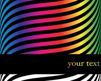 Abstract banner. Abstract vector color background in black Royalty Free Stock Photos