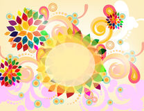 Abstract banner. With floral elements Royalty Free Stock Photo