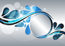 Abstract banner. With your text in circle Royalty Free Stock Images