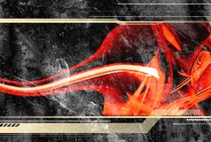 Abstract banner. Hi-tech design, textured background with fluid red shapes Stock Image