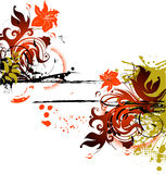 Abstract  banner. Abstract floral banner. A vector format is added. Suits well for a postcard or background Stock Images