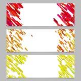 Abstract banner achtergronddiemalplaatjeontwerp met gekleurde diagonale strepen wordt geplaatst Stock Afbeeldingen