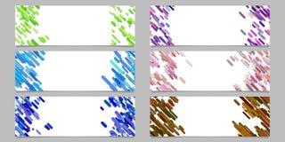 Abstract banner achtergronddiemalplaatjeontwerp met gekleurde diagonale strepen wordt geplaatst Royalty-vrije Stock Foto's