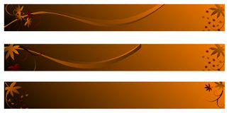 Abstract banner autumn theme Royalty Free Stock Photography