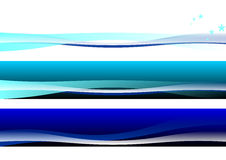 Abstract Banner Background. 3 color curve banner background royalty free illustration
