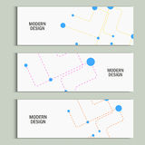 Abstract banner background dotted lines and balls.  Royalty Free Illustration
