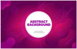 Abstract banner background purple magenta royalty free illustration
